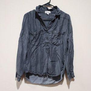 Cloth & Stone 3/4 Length button up shirt sz Medium